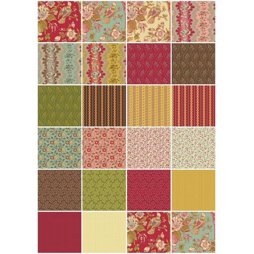 Cloverdale House - FQ Bundle 22 Pieces