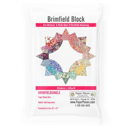 Brimfield Awakening Block - Paper Pieces Set - Single Block